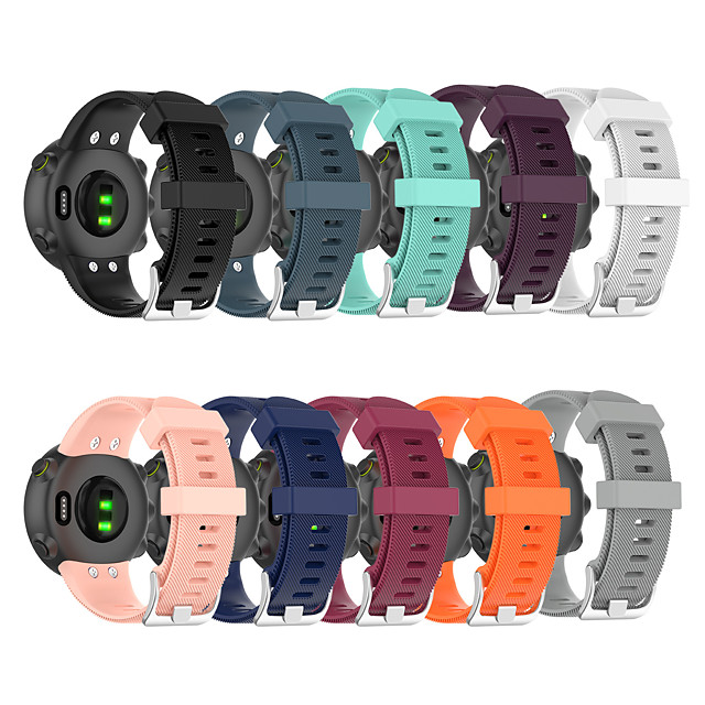 Watch Band for Garmin forerunner 45 / forerunner 45S / Garmin Swim 2 Garmin Classic Buckle Silicone Wrist Strap