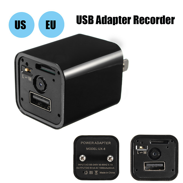 Mini Camera Phone Charger Adapter 1080P HD USB Cam & Motion Detection for Office Home Nanny Hotel