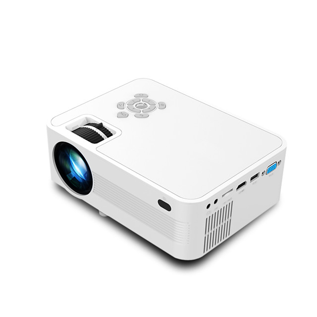 Portable Home Movie LED Video Projector 2200 lm Compatible with Fire TV StickHDMI VGA AV USB