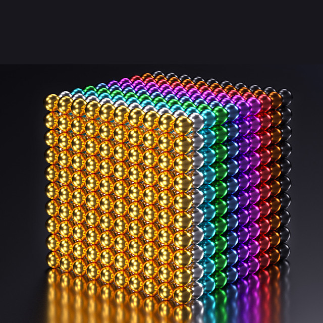 216-1000 pcs 5mm Magnet Toy Magnetic Balls Building Blocks Super Strong Rare-Earth Magnets Neodymium Magnet Puzzle Cube Magnetic Adults' Boys' Girls' Toy Gift / 14 years+ / 14 years+