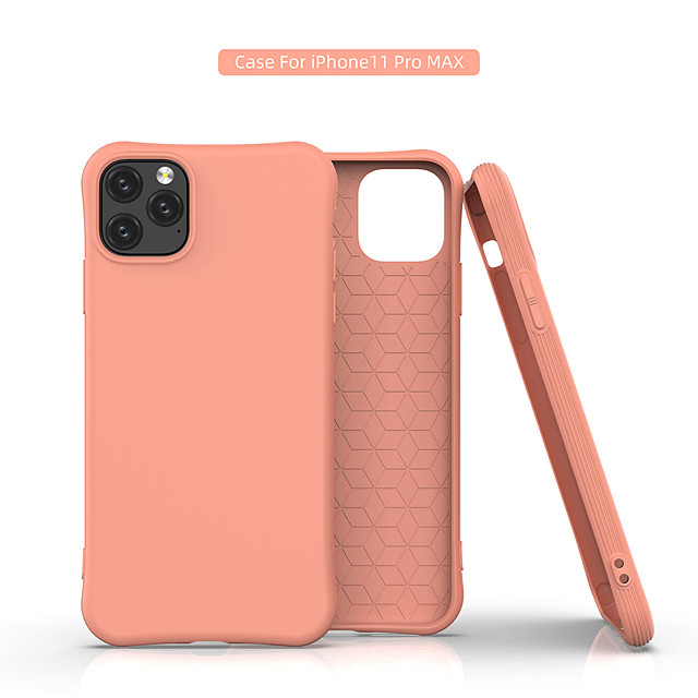 Case For Apple iPhone 11 / iPhone 11 Pro / iPhone 11 Pro Max Shockproof Back Cover Solid Colored TPU