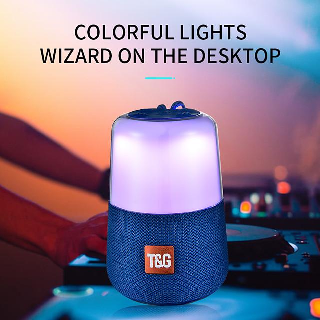 Smart LED Flash Light Bluetooth Speaker Portable Mini Outdoor Subwoofer 1200 MAh Music Box FM Radio Night Light Help Baby Sleep
