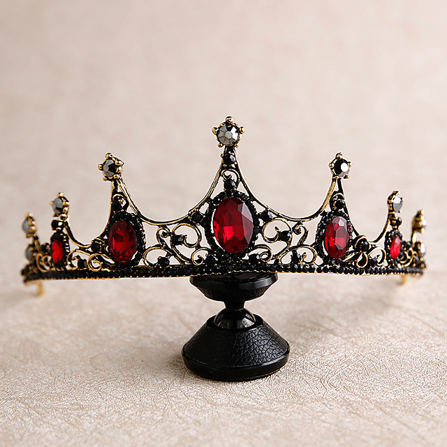 Tiaras Wreaths Crown Masquerade Retro Vintage Gothic Alloy For Black Swan Cosplay Halloween Carnival Women's Costume Jewelry Fashion Jewelry