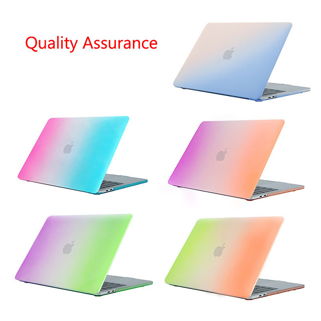 Frosted Gradient Rainbow Case for Apple MacBook Air Pro Retina Air Pro 15 13 12 11 Protective Laptop Cover Mac Book 13.3 15.5