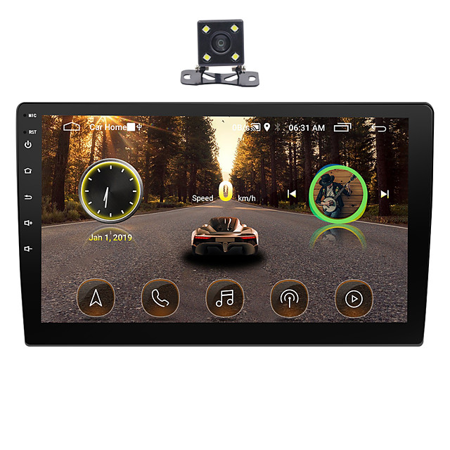 SWM 9101+4LED camera 7 inch 1 DIN Android 8.1 In-Dash Car DVD Player / Car MP5 Player / Car MP4 Player Touch Screen / GPS / Built-in Bluetooth for universal RCA / HDMI / FM2 Support MPEG / MPG / WMV