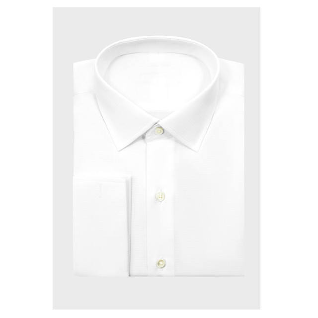 White Diamond Weave Dress Shirt