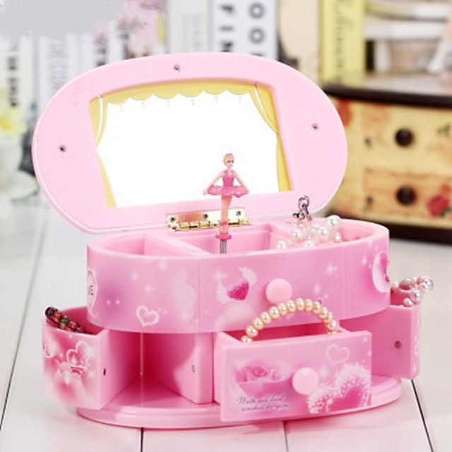 Music Box Music Jewelry box Ballerina Music Box Musical Jewellery Box Music Box Dancer Ballet Dancer Unique Plastic Women's Unisex Girls' Kid's Adults Graduation Gifts Toy Gift
