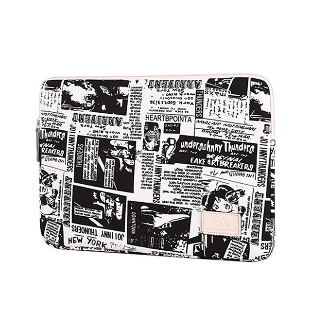 13.3 Inch Laptop / 14 Inch Laptop / 15.6 Inch Laptop Sleeve Canvas Retro / Letter for Men for Women for Business Office Water Proof Shock Proof