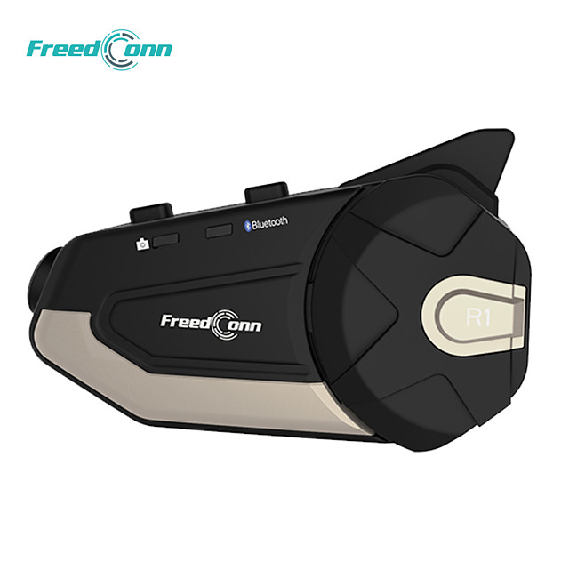 Freedconn motorcycle helmet bluetooth dash CAM R1-E wireless intercom hd camera all-in-one
