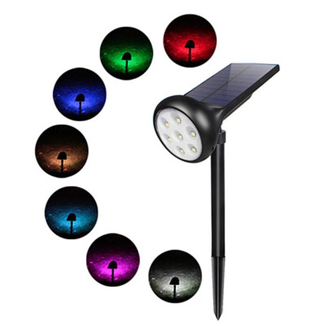 New Solar Spotlights Outdoor Lights Waterproof Color Set Color Home Wall Garden Lawn Lights