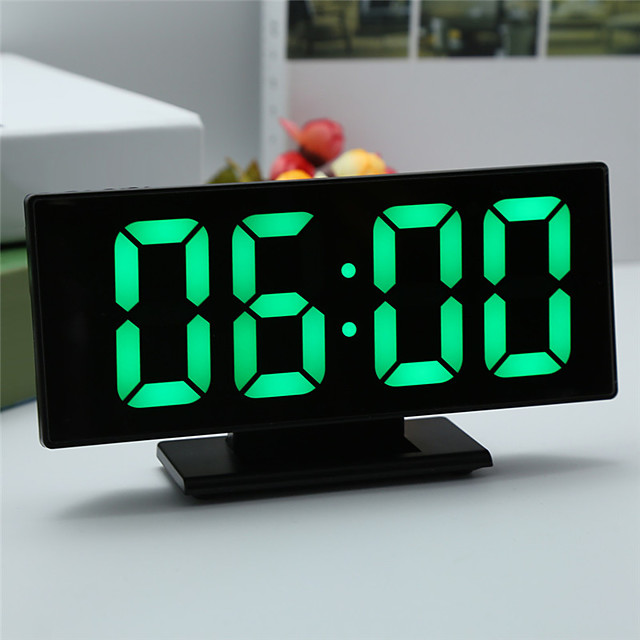 Digital Alarm Clock LED Mirror Electronic Clocks Multifunction Large LCD Display Digital Table Clock with Temperature Calendar