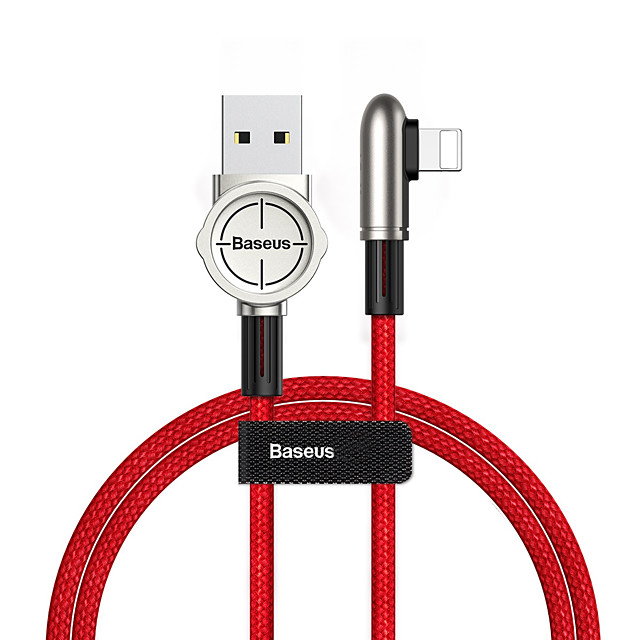 Baseus Exciting Mobile Game Cable USB For iP 2.4A 1m Black/Green/Red
