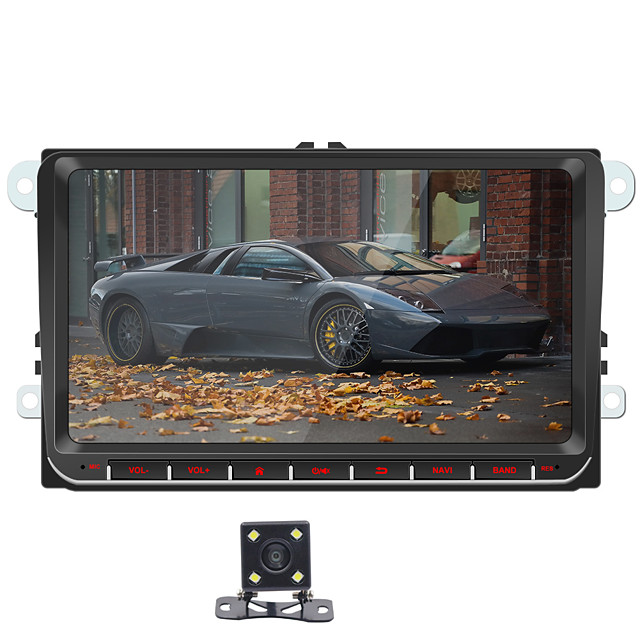 SWM 9093+4Led camera 7 inch 2 DIN Android 8.1 In-Dash Car DVD Player / Car MP5 Player / Car MP4 Player Touch Screen / GPS / Built-in Bluetooth for Volkswagen RCA / HDMI / FM2 Support MPEG / MPG / WMV