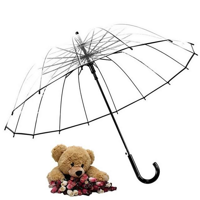 بلاستيك الجميع مشمس وممطر مظلة مستقيمة