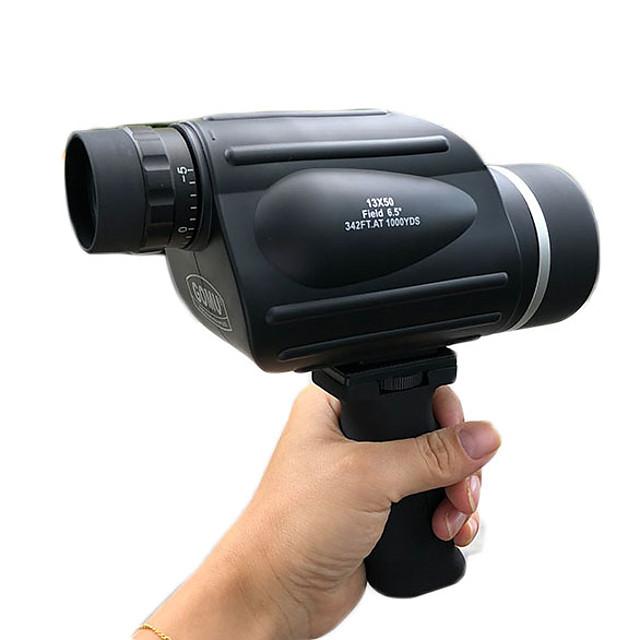 GOMU 13 X 50 mm Monocular Range Finder Porro Waterproof High Definition Fogproof Multi-coated BAK4 Night Vision Plastic Metal / Wide Angle / IPX-6 / Yes / Bird watching