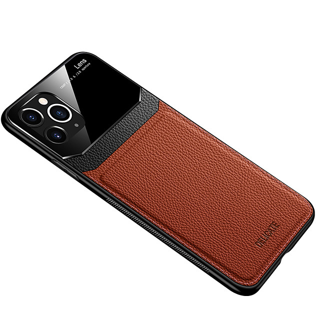 Case for Apple scene map iPhone 11 X XS XR XS Max 8 New simulation leather skin eye protection series PC tempered glass veneer three-in-one all-inclusive mobile phone case