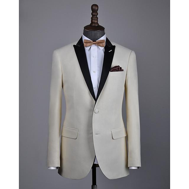 Beige wool custom tuxedo