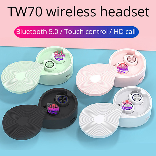 OEM TW70 TWS True Wireless Earbuds Wireless Bluetooth 5.0 Stereo with Charging Box LED Power Display for Travel Entertainment