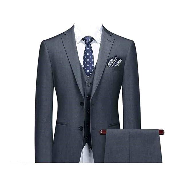 Cool gray custom suit