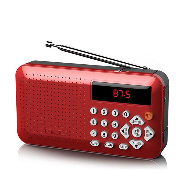 Mini Portable Radio Handheld Digital FM USB MP3 Player Speaker Rechargeable Radio