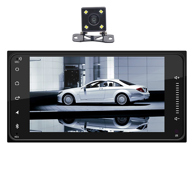 SWM huanguan+4Led camera 7 inch 1 DIN Android 8.1 In-Dash Car DVD Player / Car MP5 Player / Car MP4 Player Touch Screen / GPS / Built-in Bluetooth for universal RCA / HDMI / FM2 Support MPEG / MPG