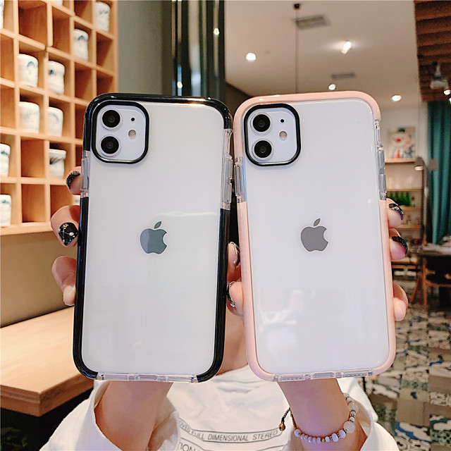 Simple Case For Apple iPhone 11 Transparent Protective Case Clear Back Cover Pure Case Mobile Phone Case with Colorful Margin for iPhone 11Pro 11ProMax