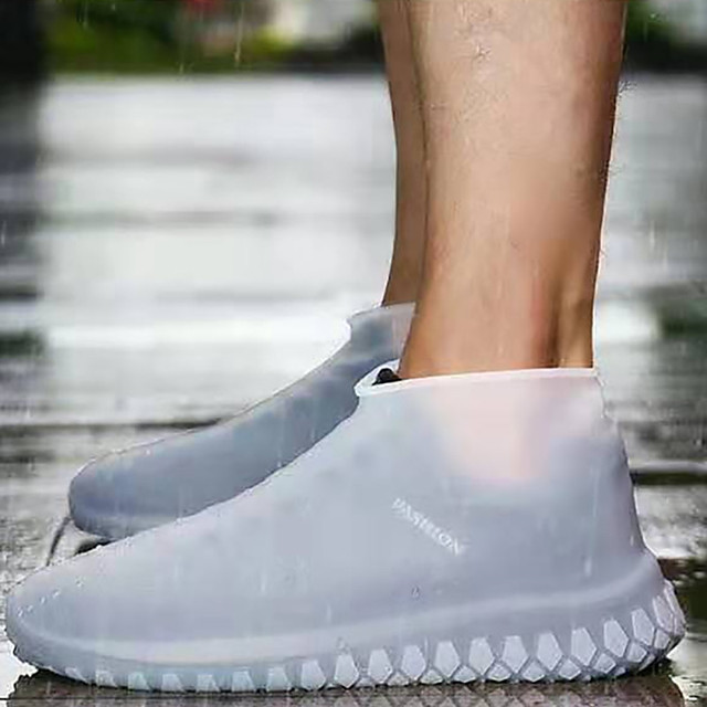 силиконовый чехол для обуви водонепроницаемый водонепроницаемый противоскользящие износостойкие и толстые открытый портативный чехол от дождя для мужчин и женщин