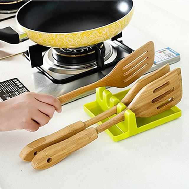 Spatula Pot Lid Holder Rack Cover Lid Spoon Spatula Colander Pad Rest Stand Kitchen Storage Organizer Tableware