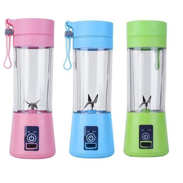 Usb Rechargeable Blender Mixer 6 Blades Juicer Bottle Cup Juice Citrus Lemon Vegetables Fruit Smoothie Squeezers Reamers