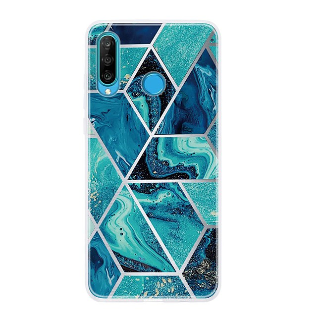 Case For Huawei P20 Pro/P20 lite/P30 Ultra-thin / Pattern Back Cover Geometric Pattern / Marble TPU For Huawei P30 Lite/P30 Pro/P Smart Z/P Smart Plus/P Smart 2019/P8 Lite 2017/P10 Lite