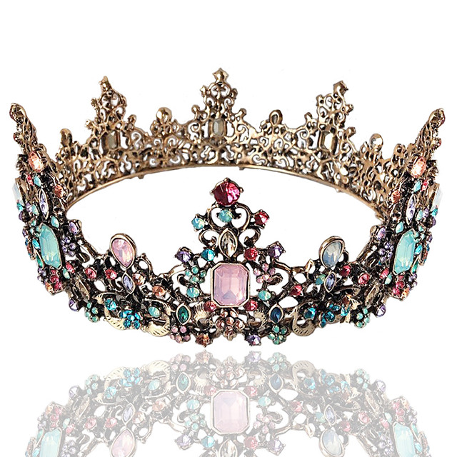 Tiaras Wreaths Crown Masquerade Retro Vintage Gothic Alloy For Lolita Cosplay Halloween Carnival Women's Costume Jewelry Fashion Jewelry