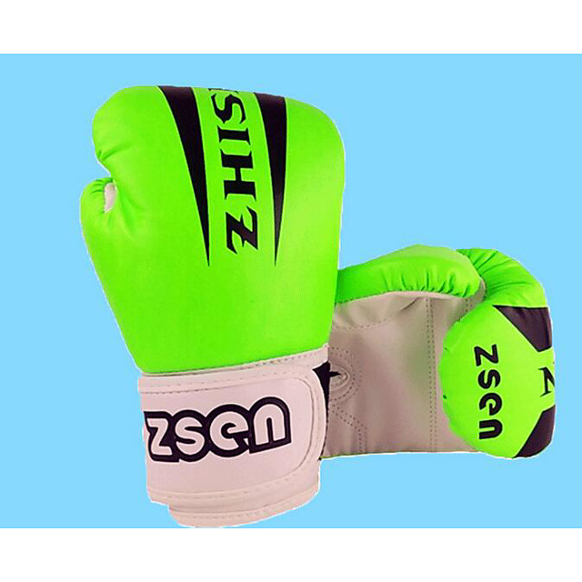 Boxing Bag Gloves For Boxing Protective PU Leather Unisex - Yellow Green Pink