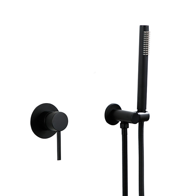 Shower Faucet Set - Rainfall Contemporary Painted Finishes Shower System Ceramic Valve Bath Shower Mixer Taps / Brass