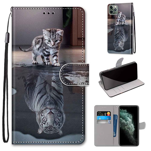 Case For Apple iPhone 11 / iPhone 11 Pro / iPhone 11 Pro Max Wallet / Card Holder / with Stand Full Body Cases PU Leather / TPU
