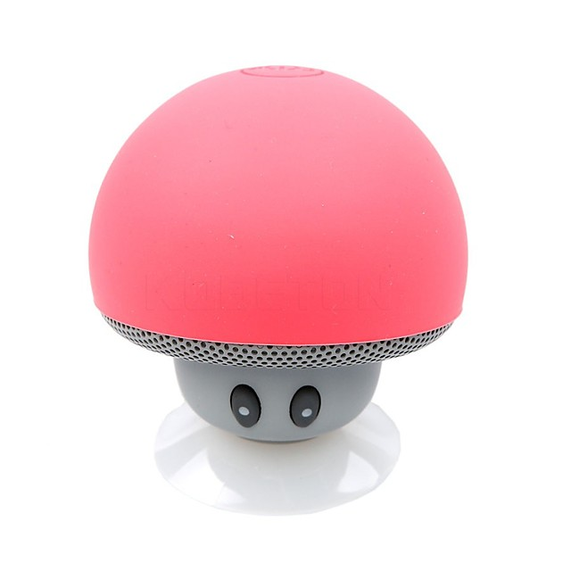 MINI WIRELESS BLUETOOTH SPEAKER MUSHROOM PORTABLE WATERPROOF SHOWER STEREO SUBWOOFER MUSIC PLAYER FOR IPHONE ANDROID