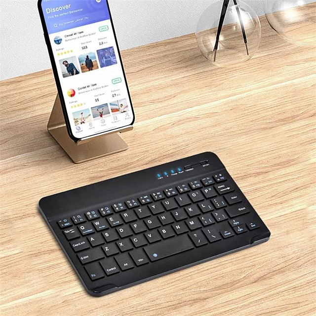 Bluetooth Office Keyboard Frosted / New Design For Android OS / iOS / MAC Bluetooth3.0