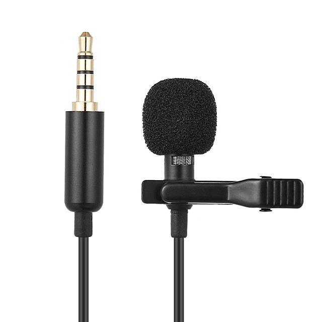 Metal Microphone 3.5mm Jack Lavalier Tie Clip Microphone Mini Audio Mic for Computer Laptop Mobile Phone