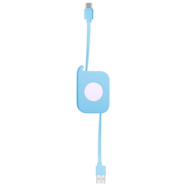 Type-C Cable Retractable / Quick Charge TPE / ABS+PC USB Cable Adapter For Huawei / Nokia / Xiaomi