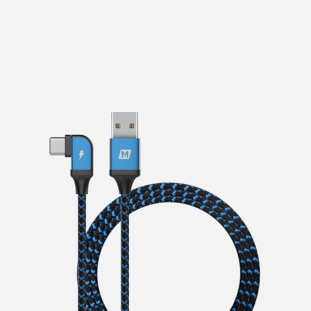Type-C Cable 1.2m(4Ft) Quick Charge Aluminum / Nylon USB Cable Adapter For Huawei / Nokia / Lenovo