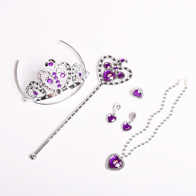 5 sets Kids Girls' Sweet Heart Heart Hair Accessories Purple One-Size