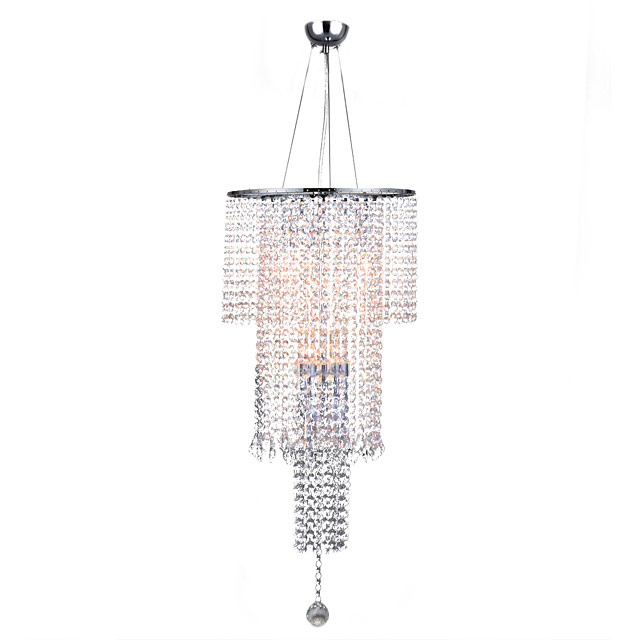 7-Light 35 cm Crystal Pendant Light Metal Crystal Electroplated Chic & Modern / Traditional / Classic 110-120V / 220-240V
