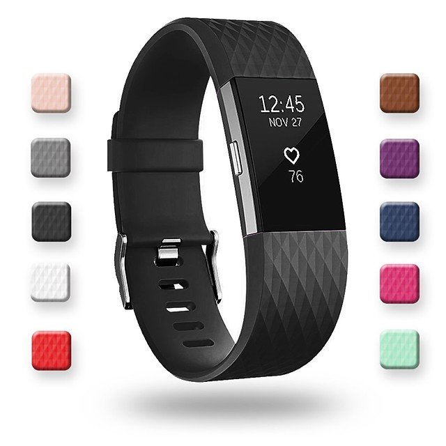 Watch Band for Fitbit Charge 2 / Fitbit Charge 2 HR Fitbit Sport Band Silicone Wrist Strap