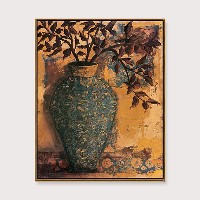 Framed Art Print Framed Set - Still Life Floral / Botanical PS Oil Painting Wall Art