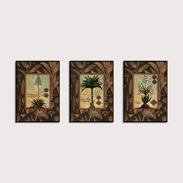 Framed Art Print Framed Set - Abstract Botanical PS Oil Painting Wall Art