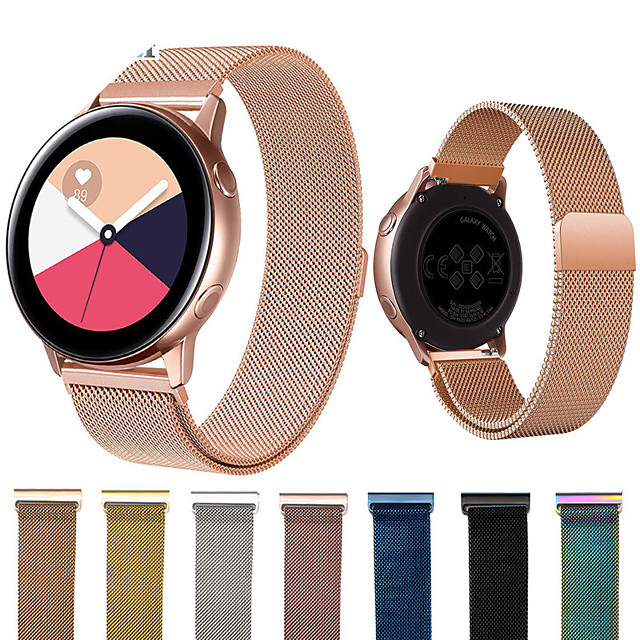 Smartwatch Band for Samsung Galaxy 42 / Active / Active2 / Gear S2 / S2 Classic / sport Milanese Loop Stainless Steel Band Wrist Strap 20mm