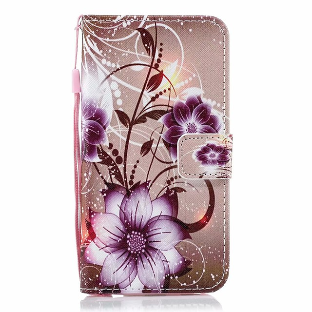 Case For Galaxy S9 / S9 Plus / S8 Plus Palace flower PU Leather with Card Slot Flip up and down For Galaxy S10 / S10 Plus / S7 EDGE