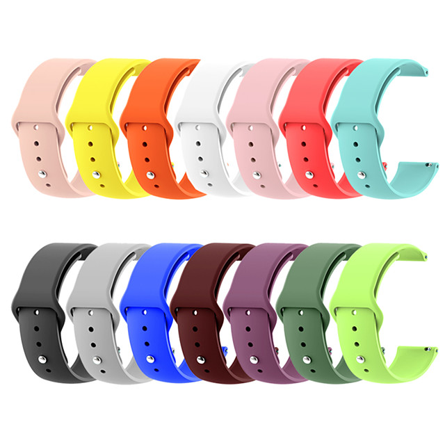 20mm 22mm Silicone band for Huawei/Withings/Samsung Galaxy/gear s3 Smart watch replacement Strap wristbands