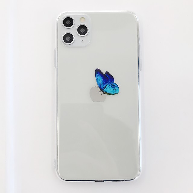 Case For Apple iPhone 11 / iPhone 11 Pro / iPhone 11 Pro Max Shockproof Back Cover Butterfly / Transparent TPU