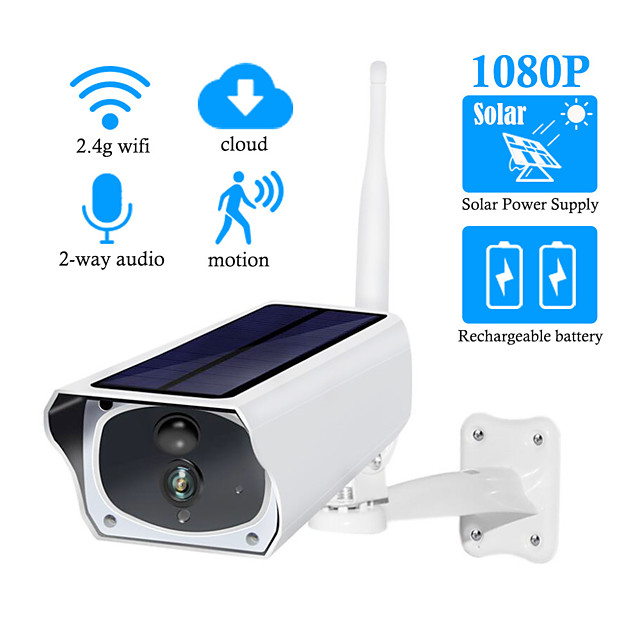 DIDSeth 1080P HD Solar Camera WiFi Outdoor IP Camera Charging Battery Wireless Security Camera PIR Motion Detection Surveillance Camera(With 3.7V 2 3200mAh Battery)