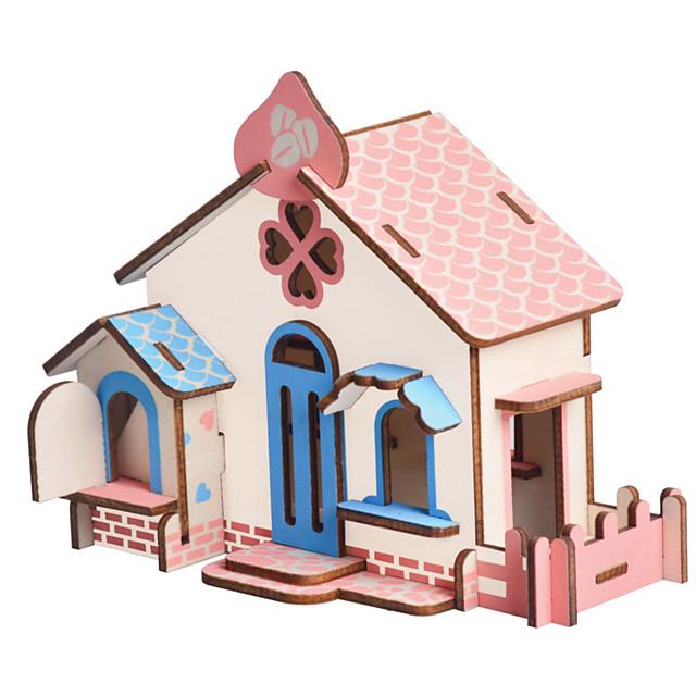 3D Puzzle Jigsaw Puzzle Wood Model Model Building Kit Houses Fashion House Classic Fashion New Design Kids Hot Sale 1pcs Modern /